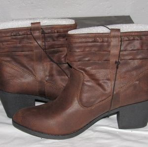 Brand new brown booties